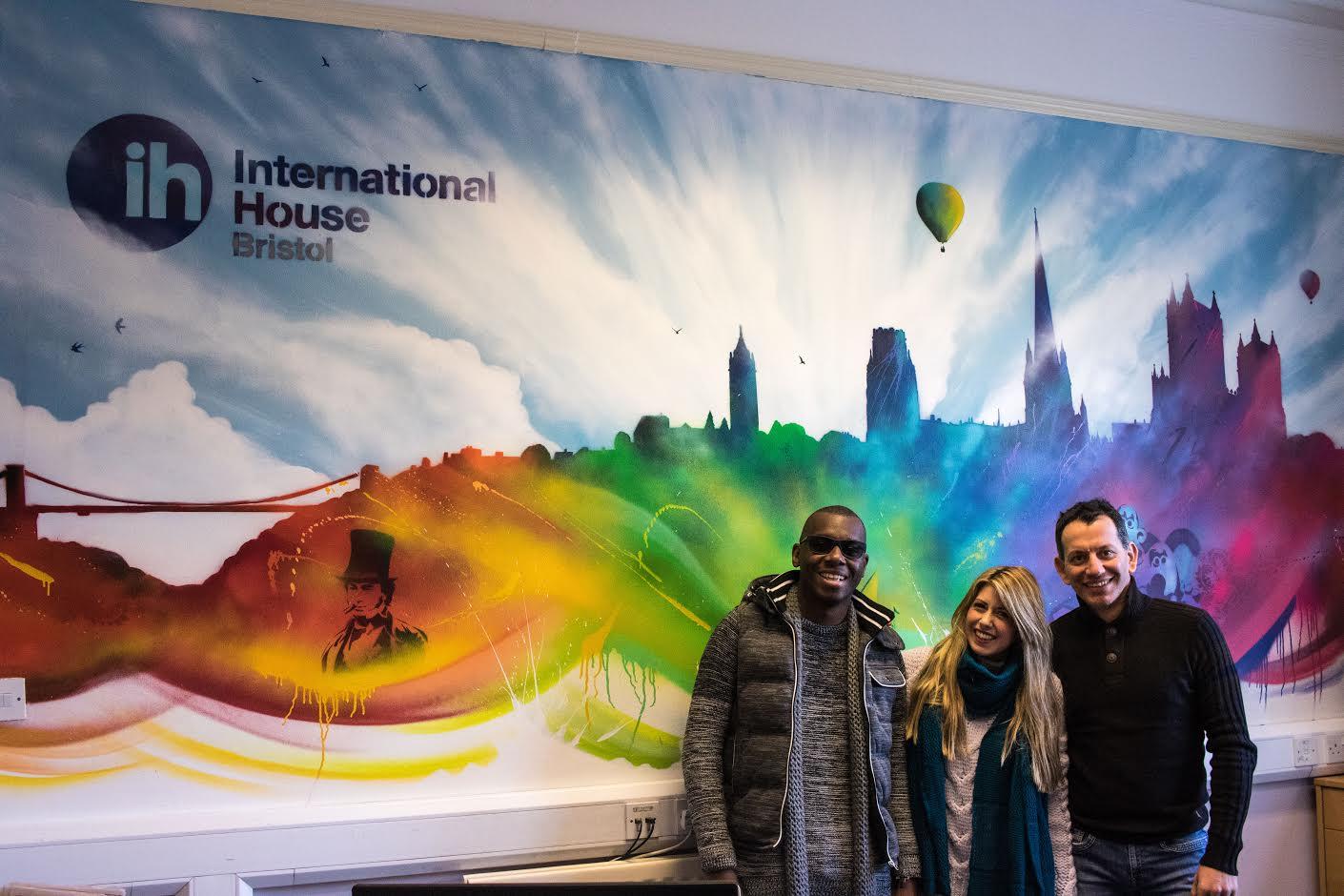 mural at International House Bristol