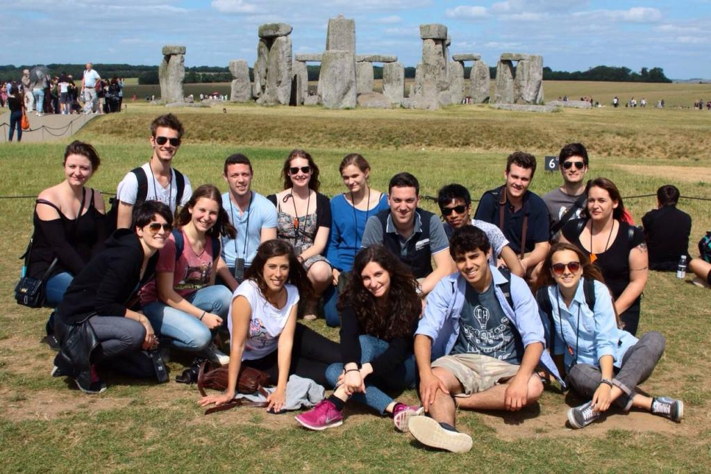 English Course Group visiting Stonehenge in the UK