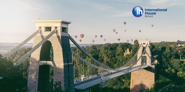 Clifton Suspension Bridge and IH Bristol logo