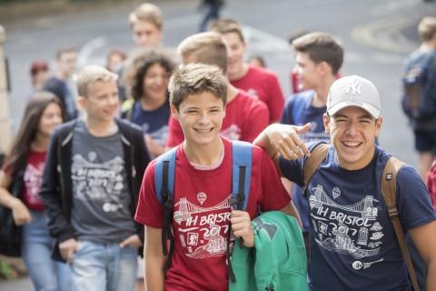 students outside IH Bristol school